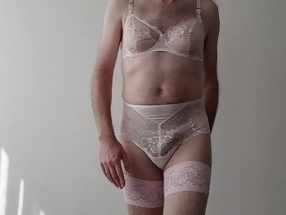 modelling Modelling and Jerking wearing Triumph Lingerie jerking