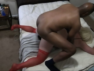 ass Big Ass Blonde Sissy CD Fucked By BBC Daddy 9.5 Uncut blonde