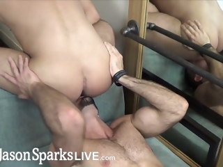 first First time jock gets monster cock bareback cum inside time