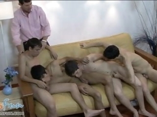naked Naked boys indulge in gay 3sum for older producer boys