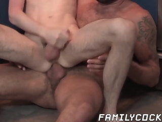 daddy Daddy hunk stuffs his cock hungry stepson bareback hunk