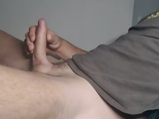huge Huge cumshot throbbing uncut cock cumshot