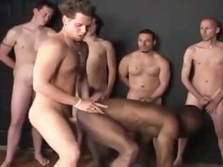 gay Gay White gang bang bareback black bottom gang
